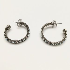 Sorrelli Hoop Earrings silver, AB crystals